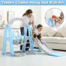 Toddler Indoor Swing Slide Set Kids Backyard Playground Playset W/Basket Fun Toy