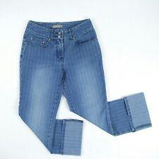 JACQUI E - Blue Mid Rise Stretch Crop Capri Jeans Women's Size 6 W25 - #511026