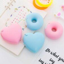 Masking Tape Cutter Heart Donut Shape Candy Color Office Tape Dispenser School