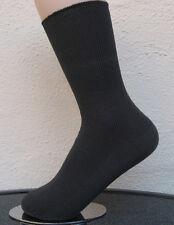 4 Paar Damensocken Socken ohne Gummi 100%25 Baumwolle 1/1 Rippe grau 35 bis 42