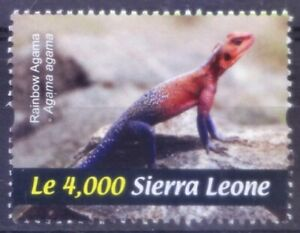 Sierra Leone 2011 MNH, Agamas - insectivorous Old World lizard, Reptiles