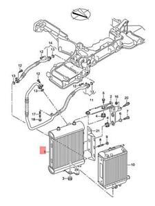 Genuine AUDI Audi RS6RS6 plus Avant qu. RS6 quattro Oil Cooler 4G0117021B