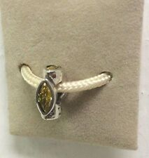 Chamilia Jewelry Midtown Marquis Yellow Crystal Charm Sterling Silver Bead