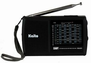 Kaito KA321 Pocket-size 10-Band AM/FM Shortwave Radio with DSP (Digital Signal P