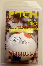 ROGER CLEMENS PITCHING TRAINER BASEBALL FACSIMILE AUTOGRAPH HOW-TO THROW A PITCH