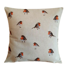 """14"""" 16"""" 17"""" 18"""" 20"""" New Christmas Cushion Cover Red Beige Robin Birds Design"""