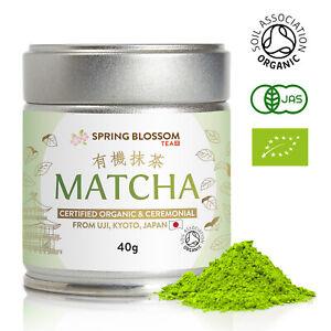 40G MATCHA GREEN TEA 100% ORGANIC JAPANESE PREMIUM CEREMONIAL GRADE FINE POWDER