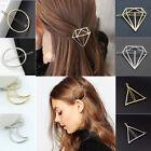 Fashion Women Metal Moon Circle Charm Hairpin Hair Clip Elegant Hair Accessories