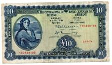 Lady Lavery / Central Bank of Ireland, Ten Pound / Ten Punt, 26 Sept 1974, 17D