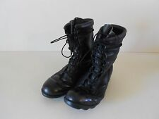 Vtg Men's Military Jump Boots Black Leather 8.5R RoSearch Motorcycle/Punk/Grunge