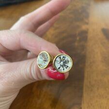 Kate Spade Bezel Set Gumdrop Earrings Clear Crystal
