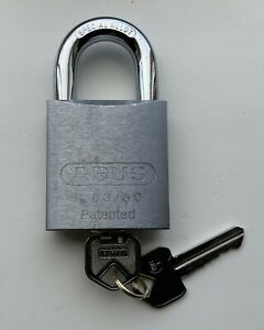 Padlock Abus 83/50 Silver Body With Lockwood Core 2 X Keys