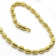 18K YELLOW GOLD CHAIN, NECKLACE 50 CM, 20 INCHES, DIAMOND CUT 3 MM TUBE LINK
