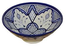 Serving Bowl Ceramic Handmade Spanish Salad Pasta Fruit Rice Salsa Dish Medium