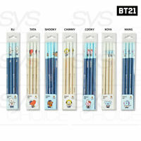 BTS BT21 Official Authentic Goods Triangular Pencil 4pcs + Tracking Num