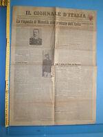 WW1 @ 14/01/1908 IL GIORNALE @ Risposta di Menelik alle proteste d'Italia - 223