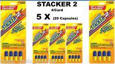Genuine Stacker 2 Diet Energy Pill Metabolizing Fat Burner 4 ct (Lot of 5 X) =20