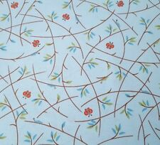 Heads Up BTY Studio 8 Quilting Treasure Giraffe Butterfly Branch Leaf Light Blue