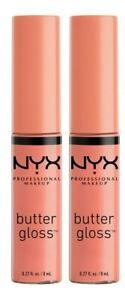 (2) NYX Butter Gloss Lip Gloss 0.27 oz #BLG31 SUNDAY MIMOSA