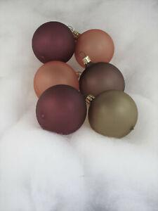 6 Glaskugeln Weihnachtskugeln 6cm pastell matt Mix (S244)