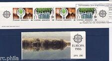 GRECE C1611A - 1986 CARNET EUROPA PROTECTION DE LA NATURE NEUF **
