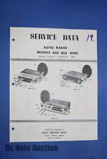 Philips Service Brochure for Car Radio Model 852-854C 1958 Dodge De Soto Plymout