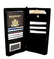 Passport Travel Ticket Boarding Pass Holder Leather ID Money Card Organizer Case