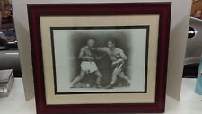 "Rocky Marciano & Jersey Joe Walcott ""The Punch"" Pencil Draw Print Signed Framed"