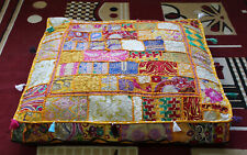 """New 35"""" Large Yellow Multi Patchwork Cotton Cushion Cover Home Decorative Covers"""