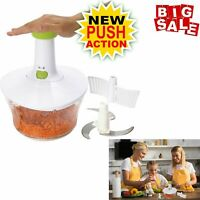 Express Food Chopper: Large 6.8-Cup, Quick & Powerful Manual Hand Held Chopper