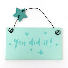 Mini Wooden Keepsake Heart Hanging Plaque Cute Special Friend Sentiment Sign