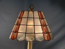"Genuine Capiz Shell Natural Color 13"" diameter laural design Lamp Shade"
