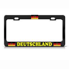 GERMAN EAGLE FLAG BLACK License Plate Frame Tag Border