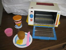 Fisher Price Fun w/ Food Toaster Oven Rising pink Muffin holder can butter lot 1