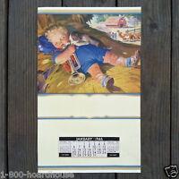 Vintage Original LITTLE BOY BLUE Promotional Store Calendar 1946 Full Pad NOS
