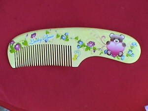 """7.10 """"LUCKY BEAR"""" WOOD COMB - CUTE! GREAT FOR GIRLS! COMBINE SHIPPING!"""