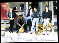 Smokie Autogrammkarte Original Signiert ## BC 38563