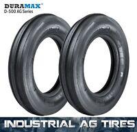 5.00-15 4PR Duramax D-500 3 RIB F2 Tractor Tires (2 Tires+Tube) 5.00x15 500x15