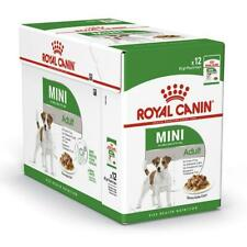 12 x Royal Canin Mini Adult Wet Dog Food in Gravy for Small Dogs up to 10kg, 85g