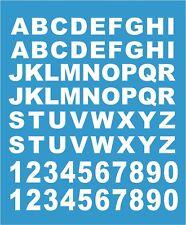 (52 Buchstaben und 20 Klebezahlen 1,2 cm Hoch ) ,  Aufkleber weiß Neu