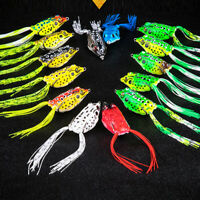 20/10/5PCS Frog Luya bait Fishing Lure Crank bait Hooks Bass Bait Tackle