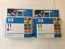 HP Ink Cartridge 11 Yellow and Red.  Some wear and tear on a box.