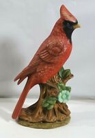 "MID CENTURY VINTAGE 1976 ""CARDINAL"" FIGUIRNE, PERCHED ON LIMB HANDPAINTED"