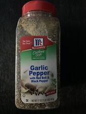McCormick California Style Garlic Coarse grind blend Pepper 17 Ounces