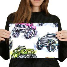 A4 - Monster Truck Kids Van Car Poster 29.7X21cm280gsm #8186