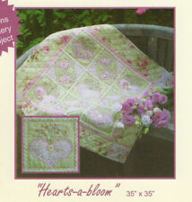 Quilting Sewing Quilt Pattern HEARTS A BLOOM Sally Giblin Rivendale Pattern NEW