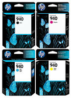 GENUINE NEW HP 940 Ink Cartridge 4-Pack for Officejet Pro 8000 8500