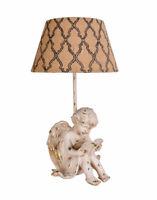 Vintage Lampe Engel Tischleuchte Weiss Amor Tischlampe Shabby Nachttischlampe