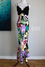 Mary L. Couture dress gown size 4 NWT multi-color tropical lace NEW formal