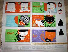 Huggable Loveable Boo I Love You! Halloween Book Panel Fabric 1 Yard #3369P